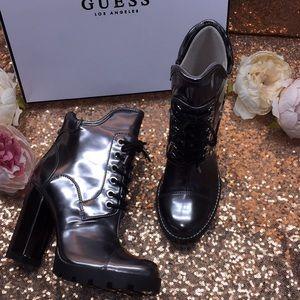 Guess Pewter Platform Boots